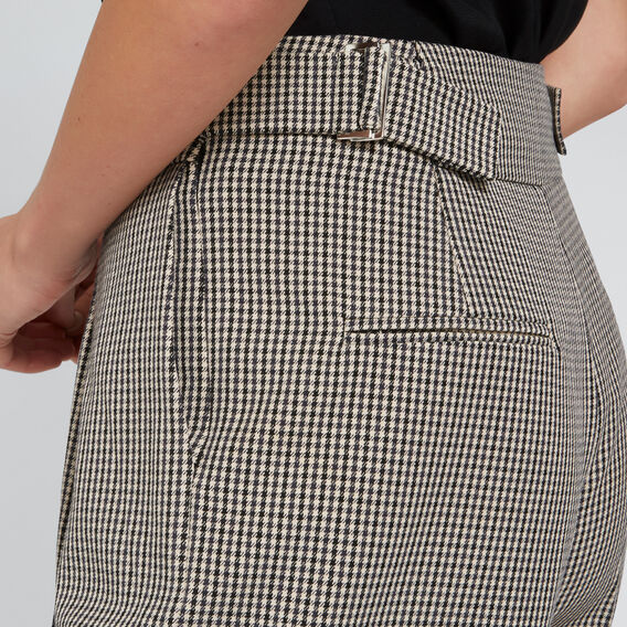 Buckle Detail Pant  HOUNDSTOOTH  hi-res