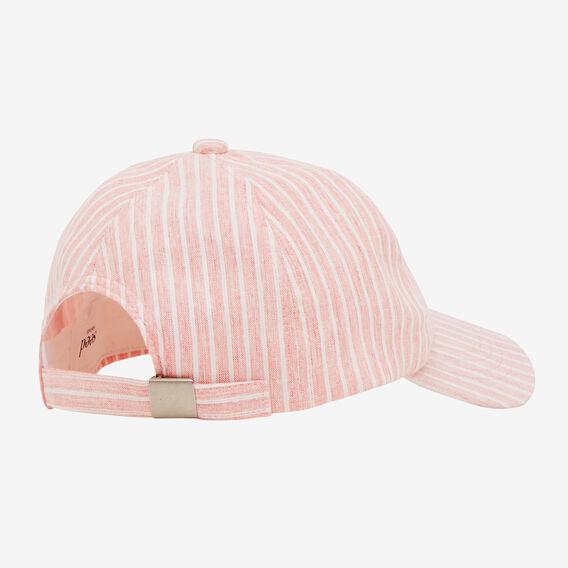 Stripe Baseball Cap  PETAL PINK  hi-res