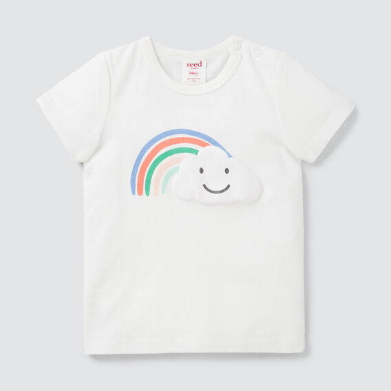 Rainbow Print Tee  CANVAS  hi-res