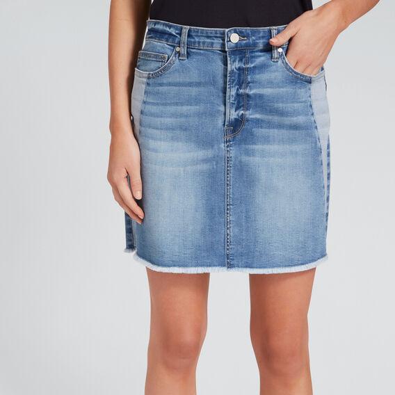Side Panel Skirt  TRUE DENIM WASH  hi-res