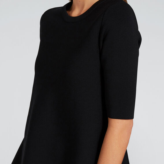 Short Sleeve Knit  BLACK  hi-res