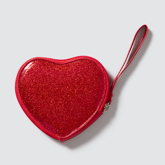 Glitter Heart Purse  RED  hi-res