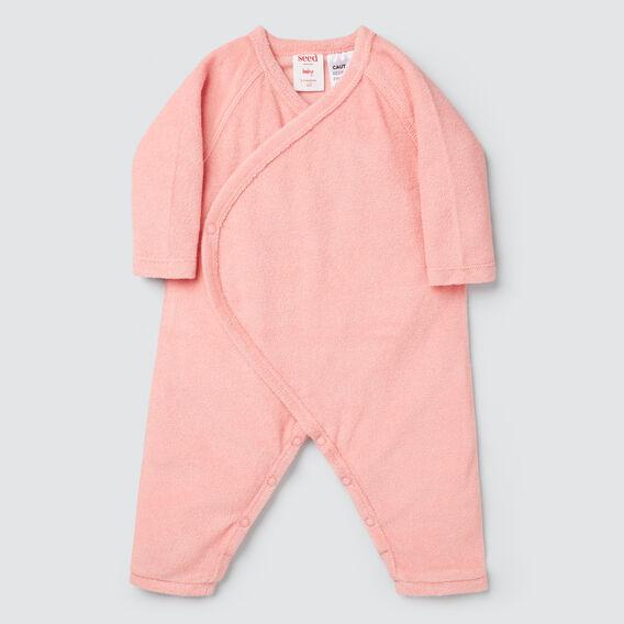 Terry Wrap Jumpsuit  DUSTY PINK  hi-res