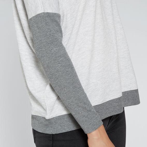 Comfy Long Sleeve Top  LIGHT ASH MARLE  hi-res