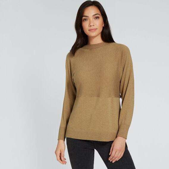 Splice Sweater  DARK KHAKI  hi-res