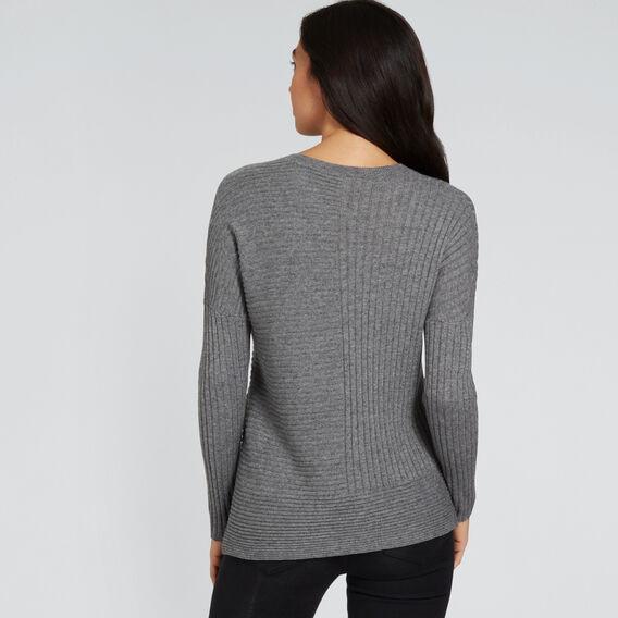 Rib Detail Sweater  SMOKEY GREY MARLE  hi-res