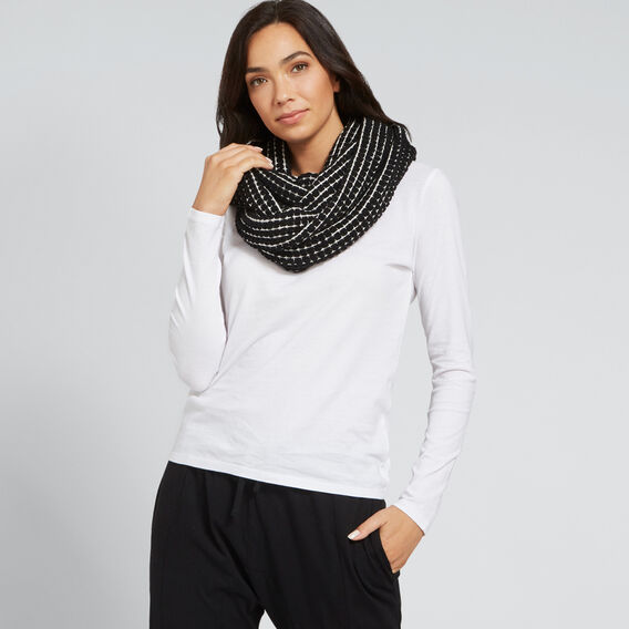 Bobble Knit Snood  BLACK/WHITE  hi-res