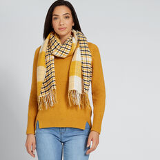 Reverse Knit Scarf  GOLDEN MUSTARD  hi-res