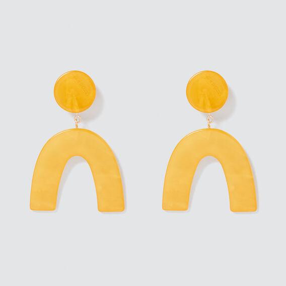 Abstract Earrings  GOLDEN MUSTARD  hi-res