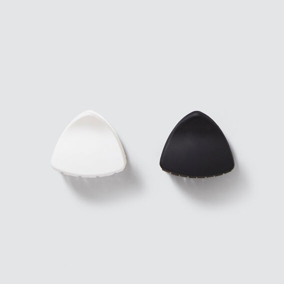 Matte Hair Clip Pack  BLACK/WHITE  hi-res
