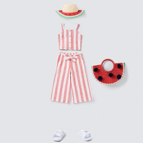 Stripe Culottes  APPLE RED/WHITE  hi-res