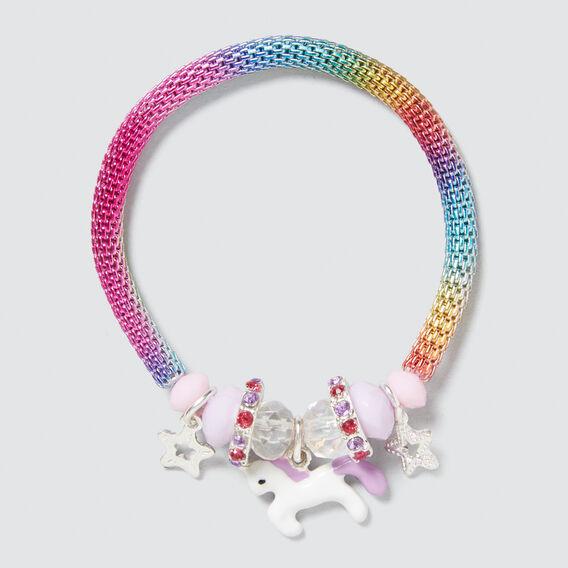 Rainbow Stretch Metal Bracelet  MULTI  hi-res