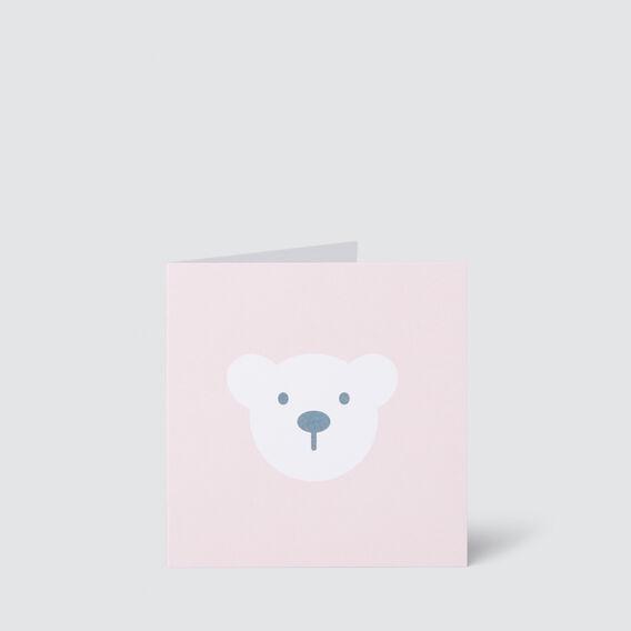 Small Pink Bear Card  MULTI  hi-res