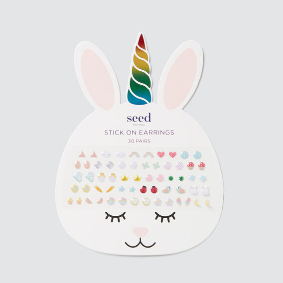Bunny Stick On Earrings  MULTI  hi-res