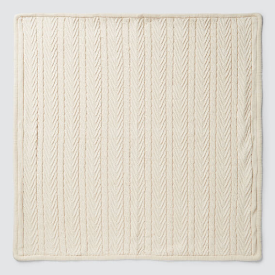 Knit Cable Blanket  RICH CREAM  hi-res
