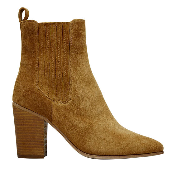 Brooklyn Block Heel Boot  TAN  hi-res
