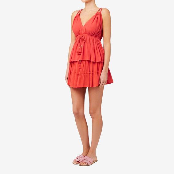 Tiered Frill Skirt  CRIMSON  hi-res