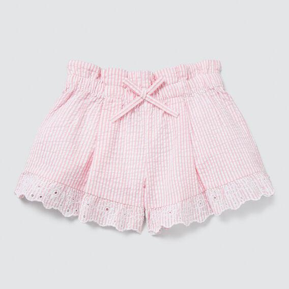 Seersucker Shorts  MUSK PINK  hi-res