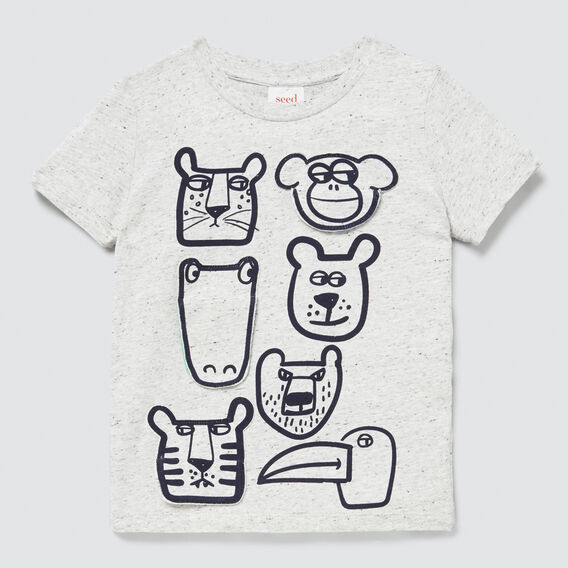 Novelty Flip Tee  CLOUDY MARLE  hi-res