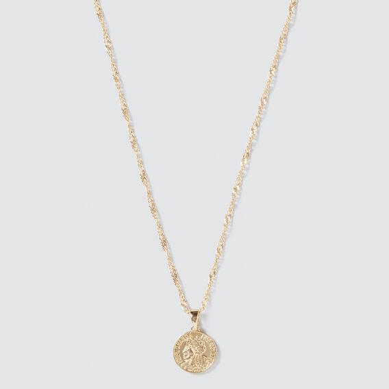 Coin Pendant Necklace  GOLD  hi-res