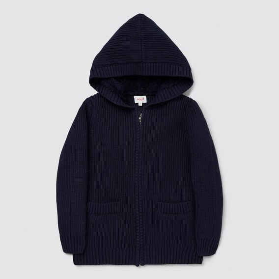 Sherpa Knit Hoodie  MIDNIGHT BLUE  hi-res
