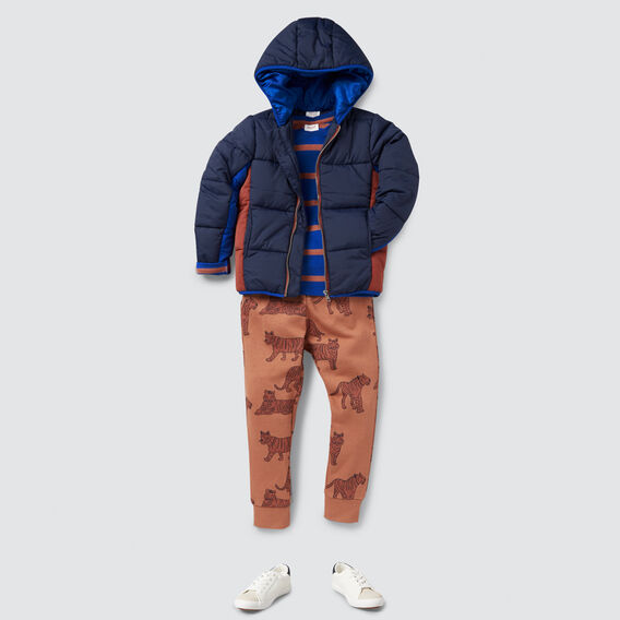 Spliced Puffa Jacket  MULTI  hi-res