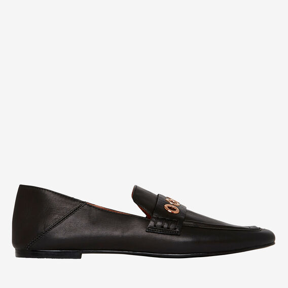 Allegra Eyelet Loafer  BLACK  hi-res