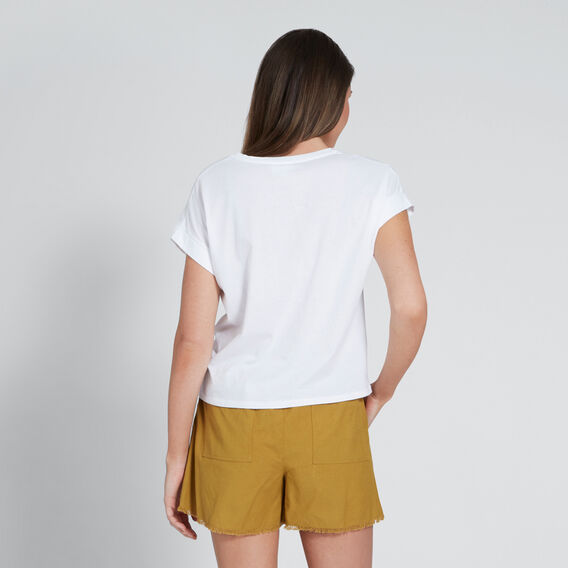 Rolled Cuff Tee  WHISPER WHITE  hi-res