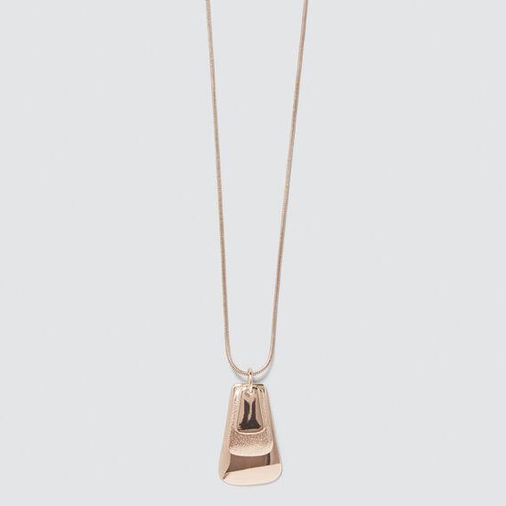 Tri Pendant Necklace  ROSE GOLD  hi-res