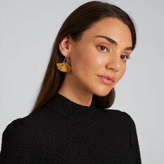 Triangle Tassel Earrings  GOLDEN MUSTARD  hi-res