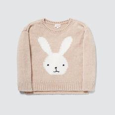 Chenille Bunny Sweater  STONE  hi-res