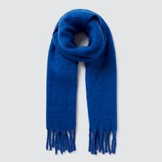 Cosy Fringe Scarf  YVES BLUE  hi-res