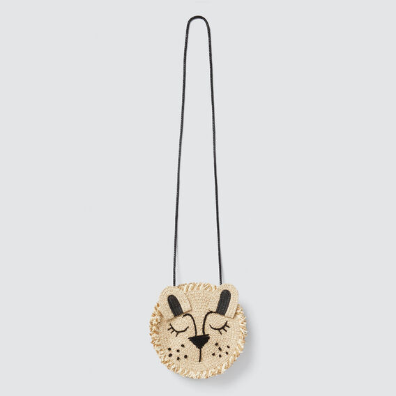 Wild Cat Straw Bag  NATURAL  hi-res