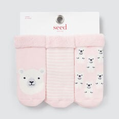 Terry Bear Socks  MARSHMALLOW  hi-res
