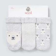 Terry Bear Socks  GREY  hi-res