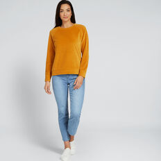 Velour Raglan Sweater  GOLDEN MUSTARD  hi-res