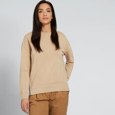 Washed Back Sweat  SOFT BEIGE  hi-res