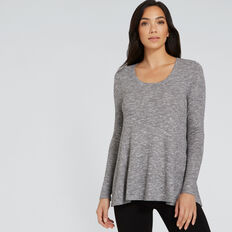 Swing Rib Top  SMOKEY GREY MARLE  hi-res