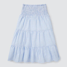 Tiered Midi Skirt  CORNFLOWER  hi-res