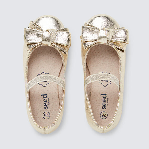 Bow Ballet Flat  GOLD  hi-res