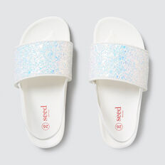 Glitter Slider  WHITE  hi-res