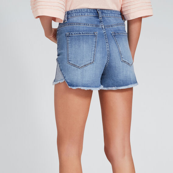 Split Hem Short  TRUE DENIM WASH  hi-res
