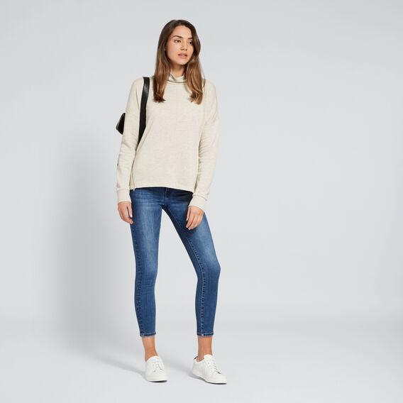 Zipper Sweater  WINTER OAK MARLE  hi-res