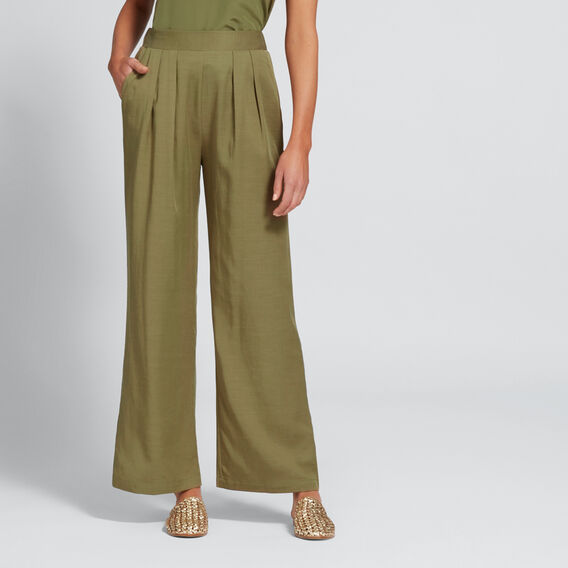 Soft Wide Leg Pant  OLIVINE  hi-res