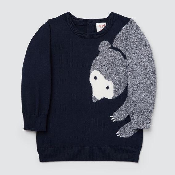 Crew Bear Knit  MIDNIGHT BLUE  hi-res