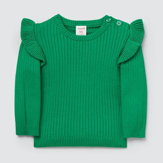 Rib Sweater  APPLE GREEN  hi-res