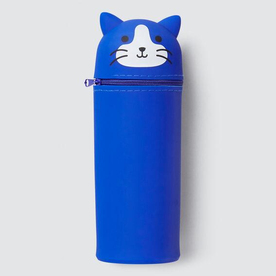 Cat Pencil Case  BLUE  hi-res