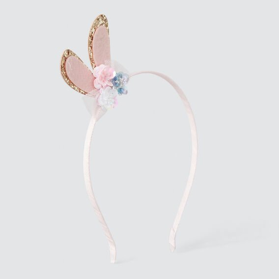 Felt Bunny And Flower Headband  ICE PINK  hi-res