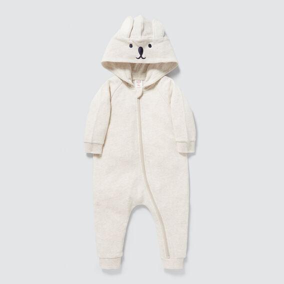 Novelty Bunny Zipsuit  OAT MARLE  hi-res
