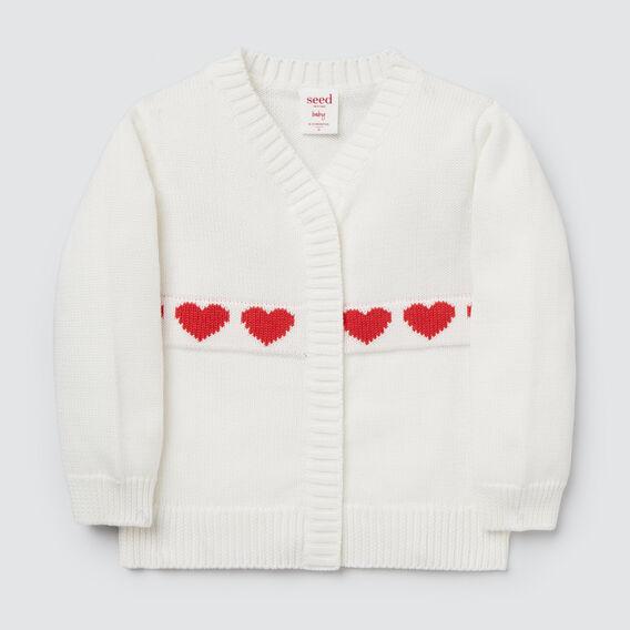 Hearts Cardigan  NB CANVAS  hi-res